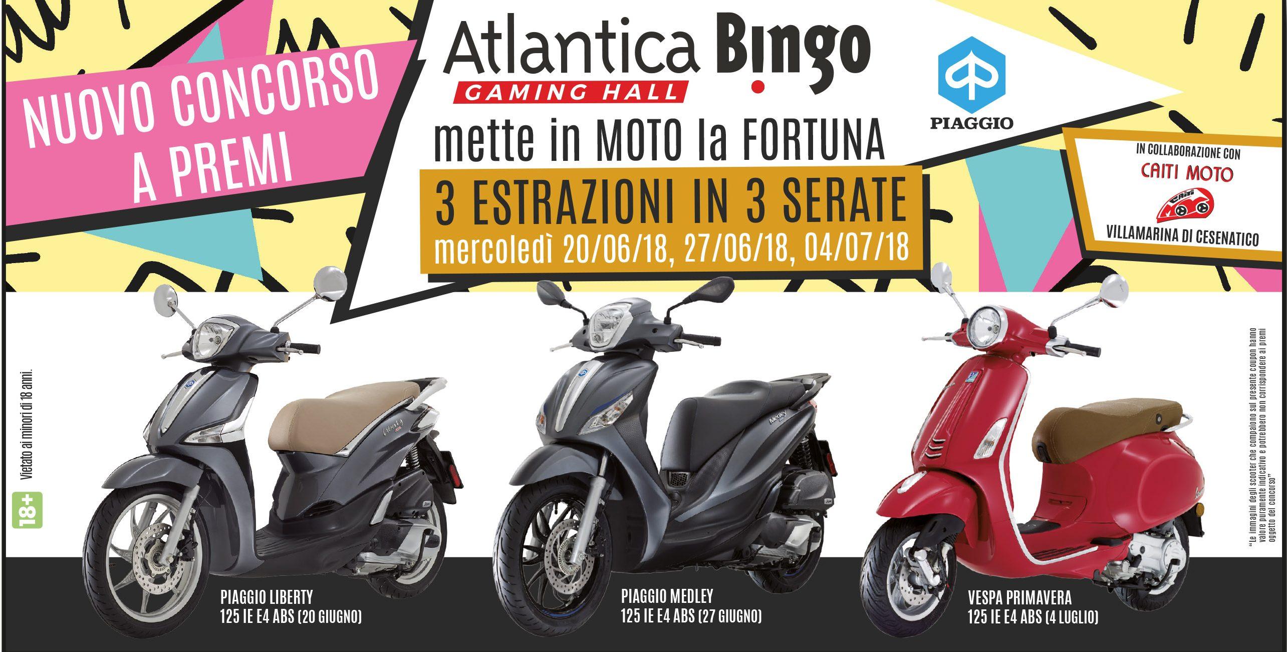 ATLANTICA BINGO… mette in MOTO la FORTUNA!